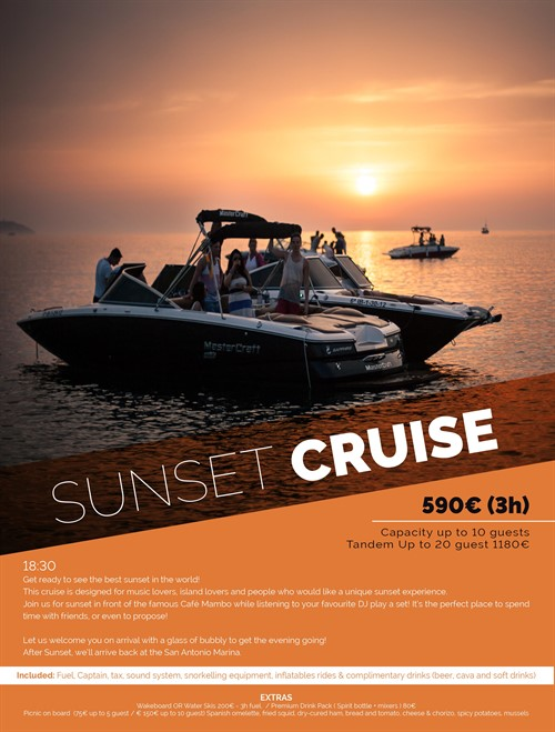 SUNSET CRUISE Sin Logo