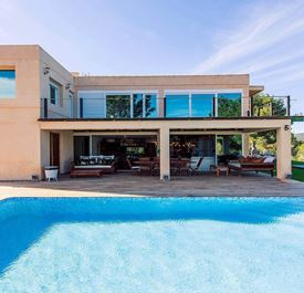 VILLA PAISSA - (sleeps 10 - villa with private pool - near Cala Jondal & beaches - south Ibiza - 5 bedrooms)