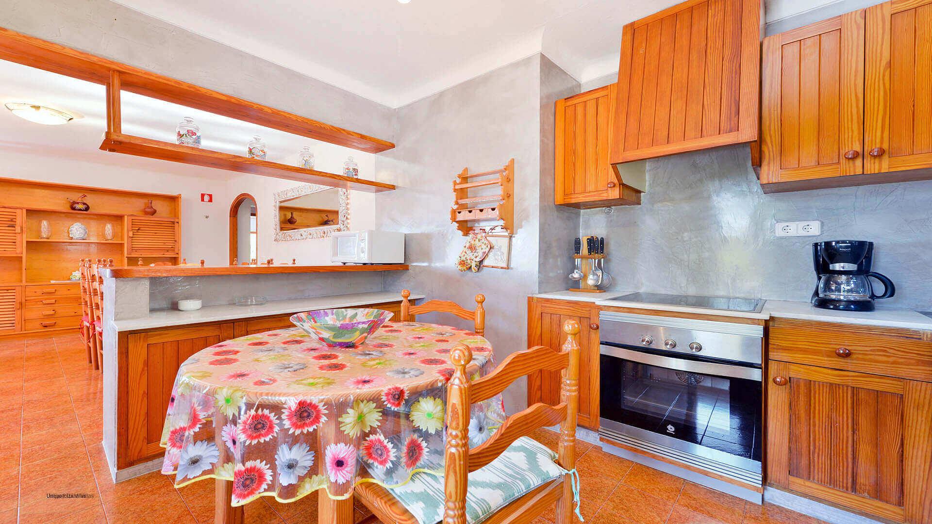 Can Tarida Ibiza 35 First Floor Kitchen