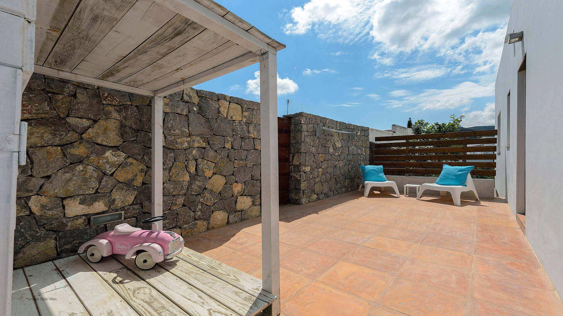 Villa Montecristo Ibiza 9 Rear Courtyard