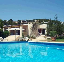 CASA FRIDA - (sleeps 4 - villa with private pool - near beach - Es Cavallet & Salinas - south Ibiza - 2 bedrooms)
