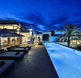 VILLA CAN SACHA - (sleeps 10+ - villa with private pool - sea views - Cala Jondal near Blue Marlin - south Ibiza - 5 bedrooms)