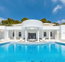 VILLA RICA - (+ CHEF - sleeps 10 - catered villa with private pool - Cala Jondal, near Blue Marlin - 5 bedrooms)