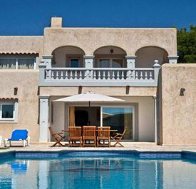 VILLA THE POND - (sleeps 8 - villa with private pool - near Ibiza Town - south Ibiza - 4 bedrooms)